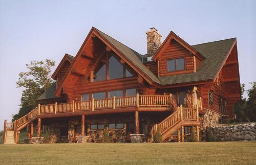 Log home plans walkout basement home design and style for Log cabin with walkout basement