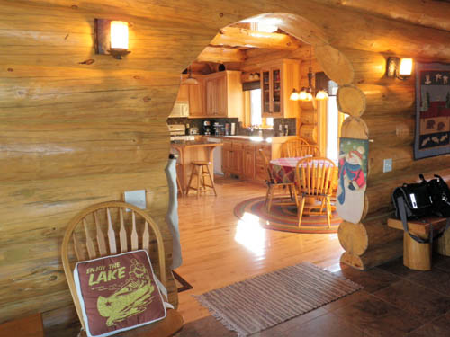 Foyer And Great Room : The point andersen log homes co